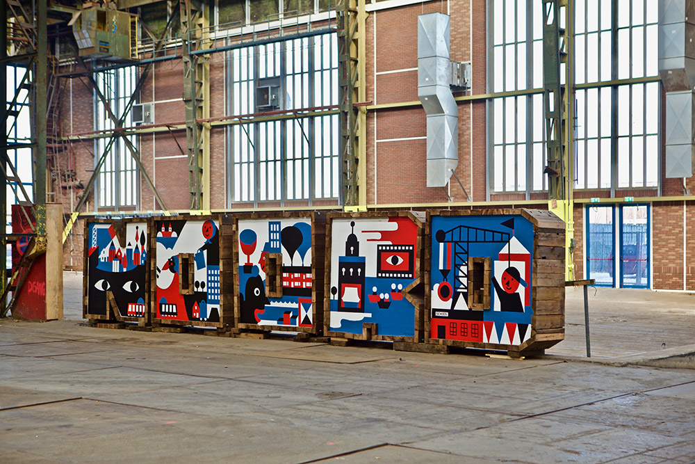 Live Painting NOORD letters