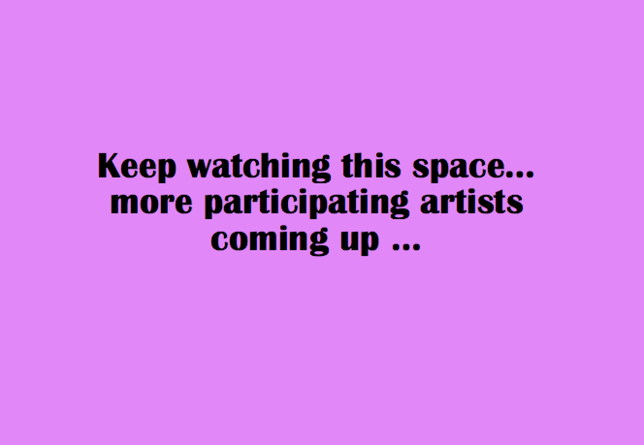 watch this space ...